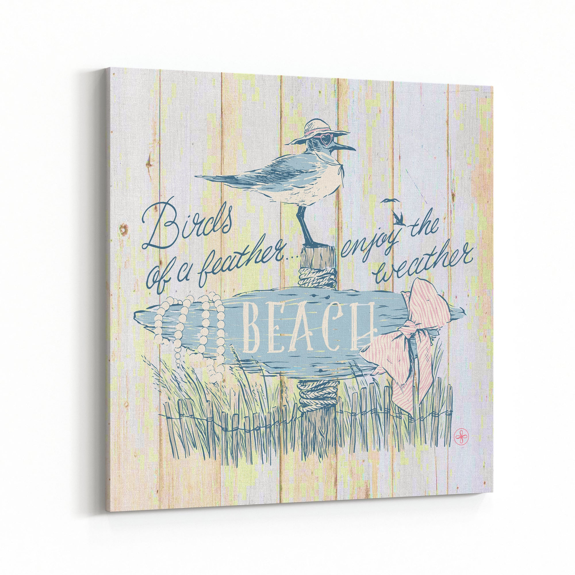 Birds of a Feather (Natural) Canvas