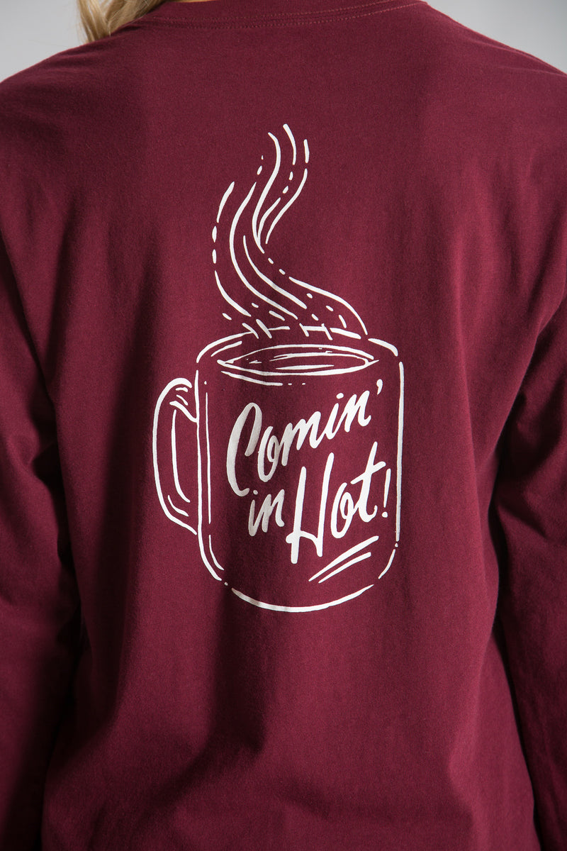 Cranberry-Coming in Hot Tee L/S- Back-2
