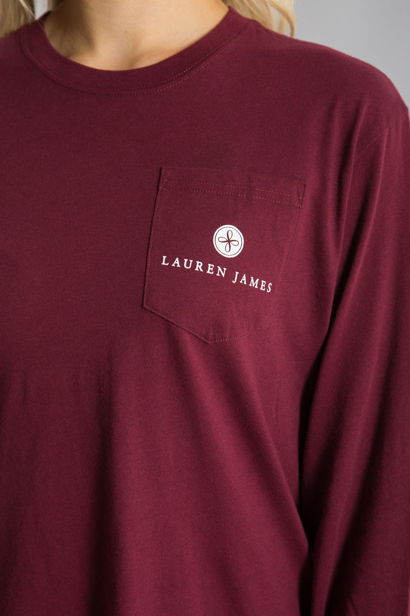 Cranberry-Coming in Hot Tee L/S- Front-2