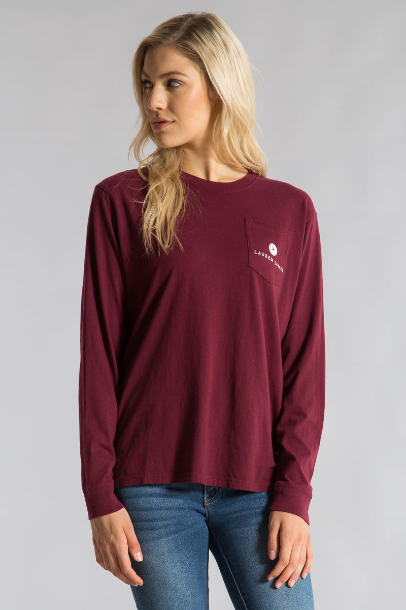 Cranberry-Coming in Hot Tee L/S- Front-1