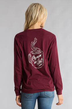 Cranberry-Coming in Hot Tee L/S- Back-1