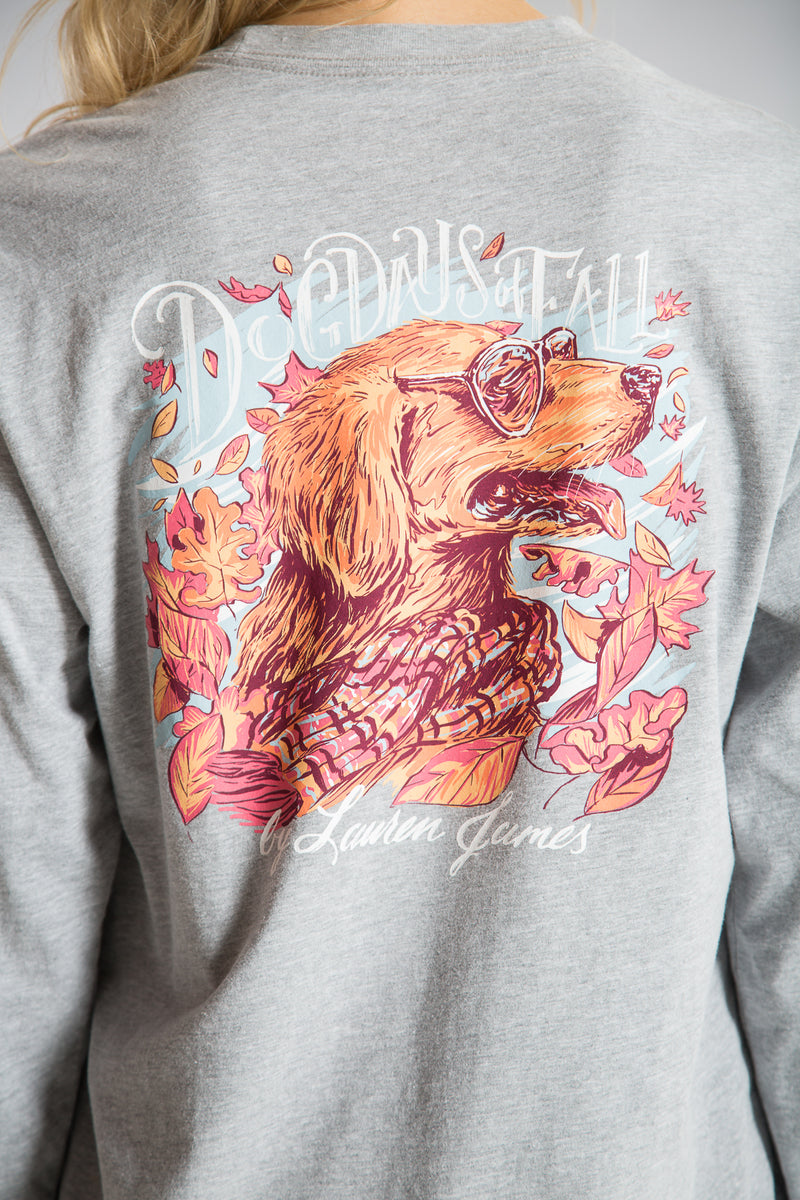 Heather Grey -Dog Days of Fall Tee L/S-Back 2