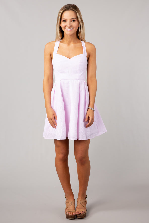 Pink - Livingston Stripe Dress - Front