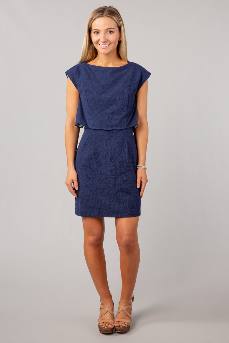 Navy - The Sullivan Dress - Front