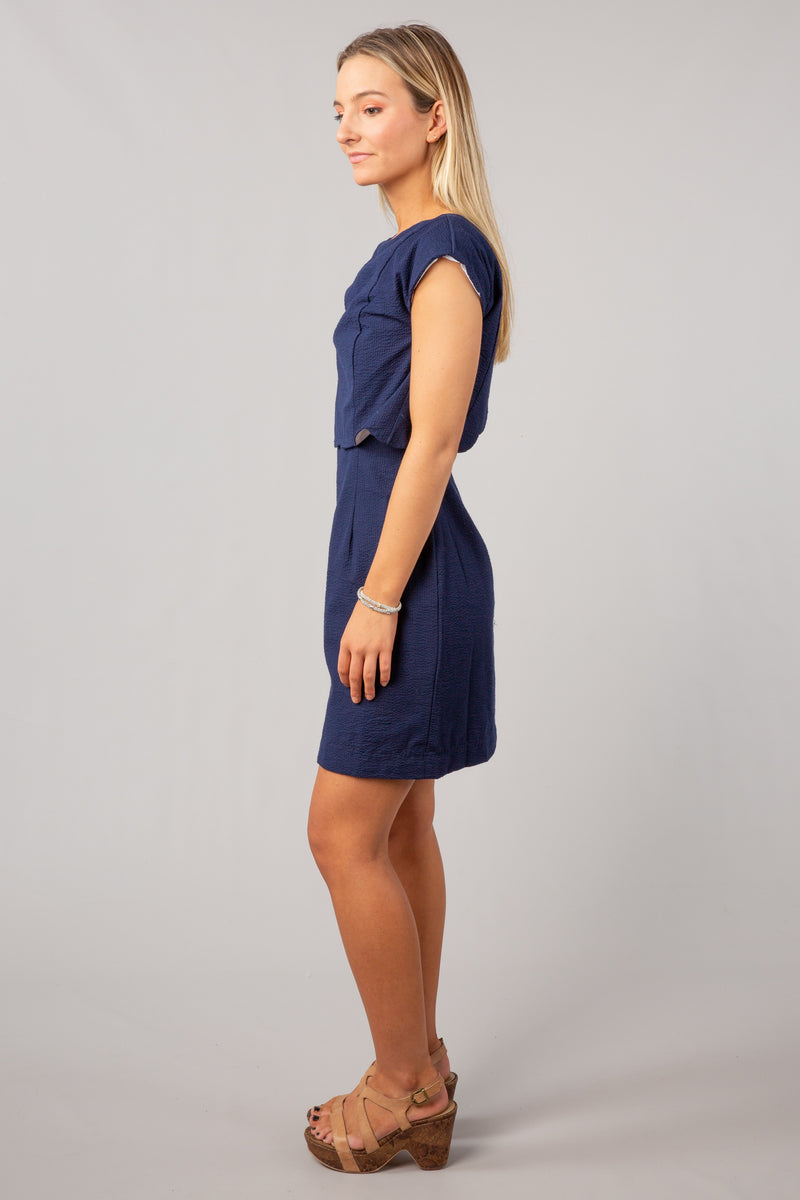 Navy - The Sullivan Dress - Side