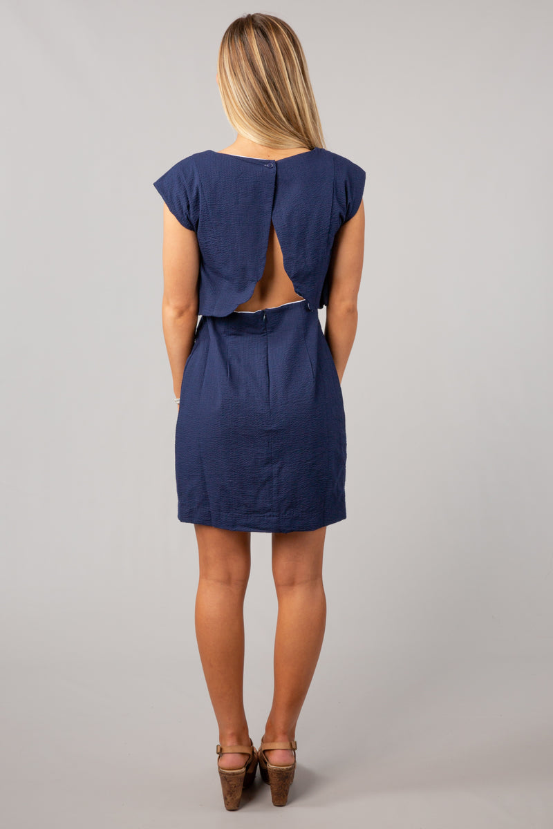 Navy - The Sullivan Dress - Back