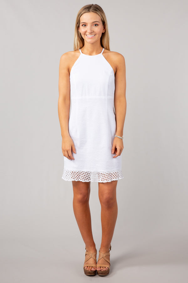White - The Olivia Dress - Front
