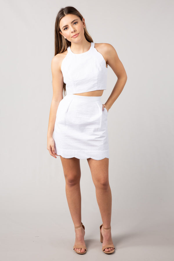 White - The Carly Two Piece - Front
