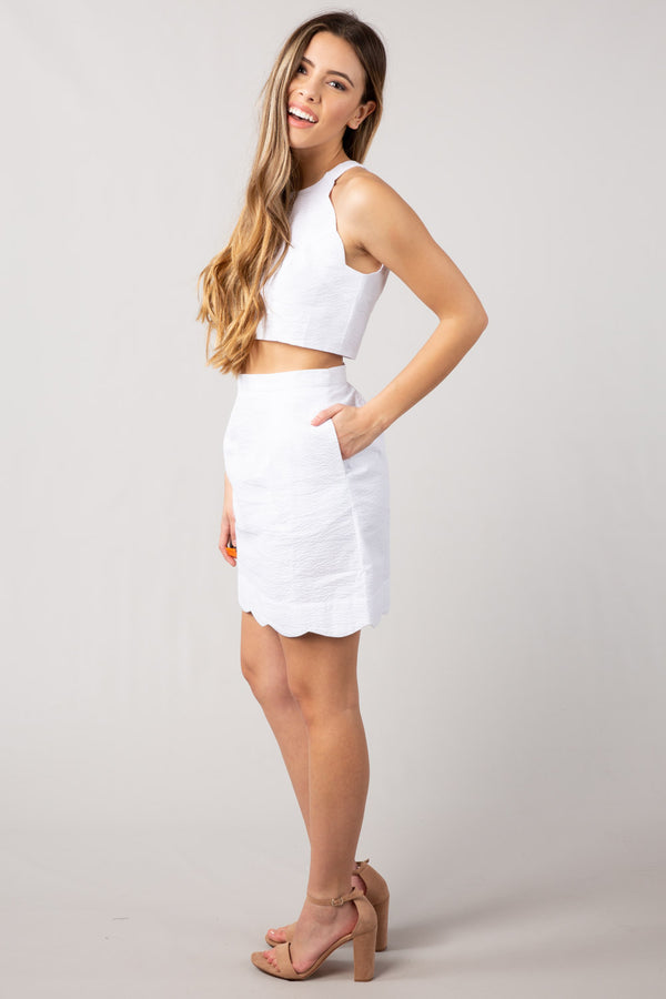 White - The Carly Two Piece - Side