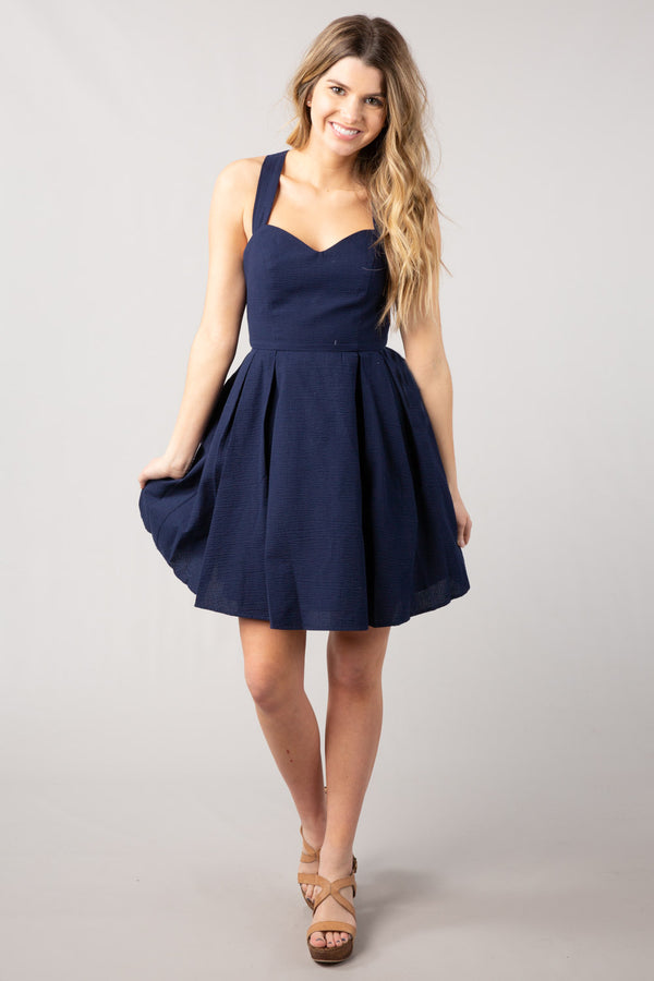 Navy - The Livingston Dress Navy - Front