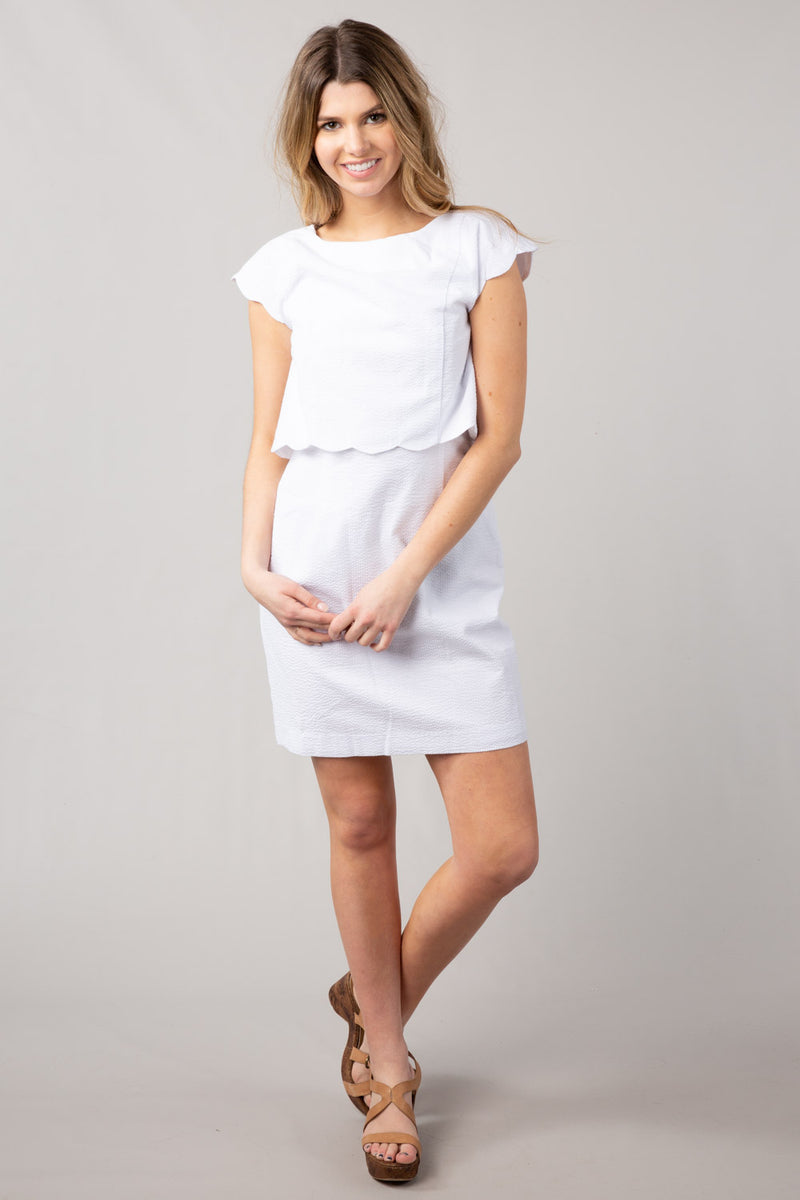 White - The Sullivan Dress - Front