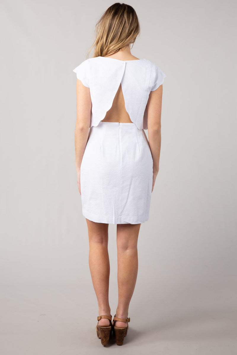 White - The Sullivan Dress - Back