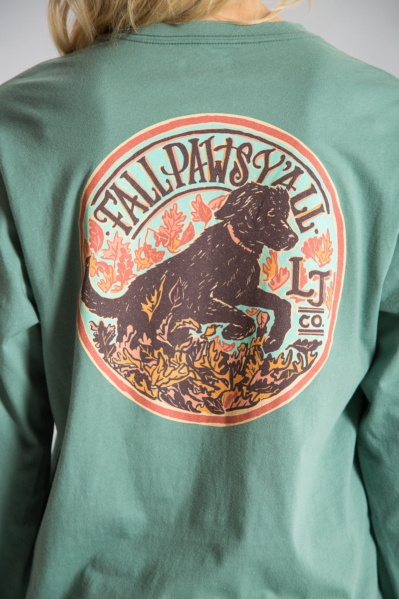 Fall Paws Tee L/S