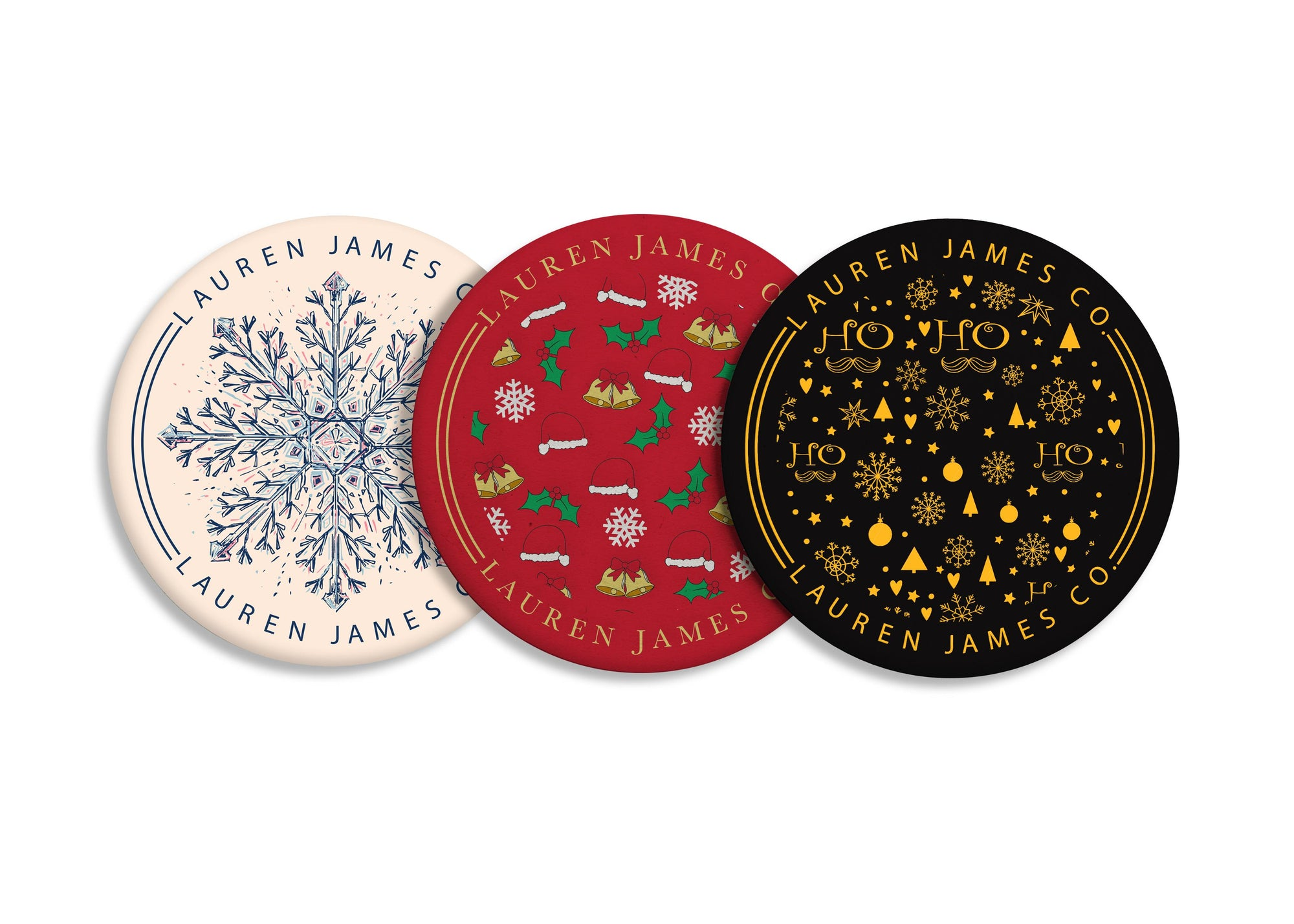 3-Piece Pack Holiday Coasters