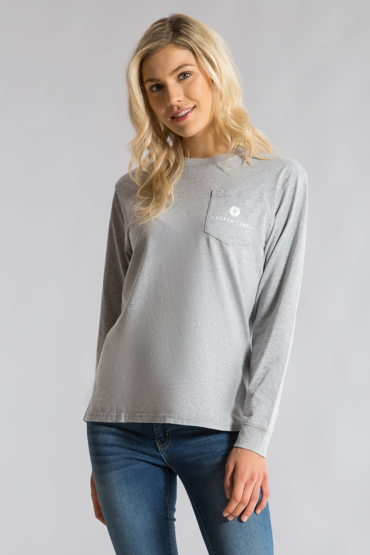 Heather Grey -New Year's Tee L/S -Front 1