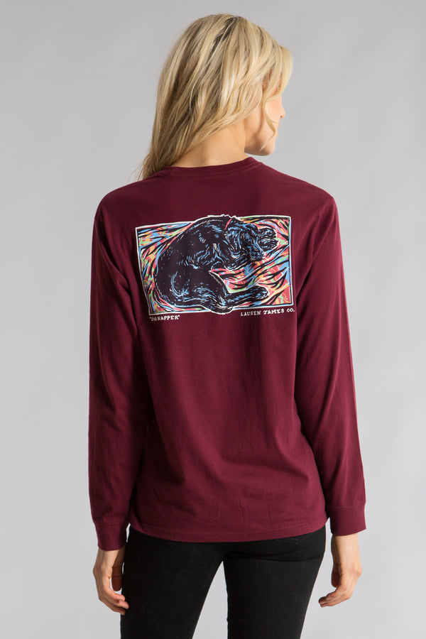 Cranberry-Dog Napper Tee L/S-Back 1