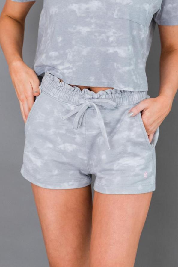 Ruffle Waist Short With Cuff
