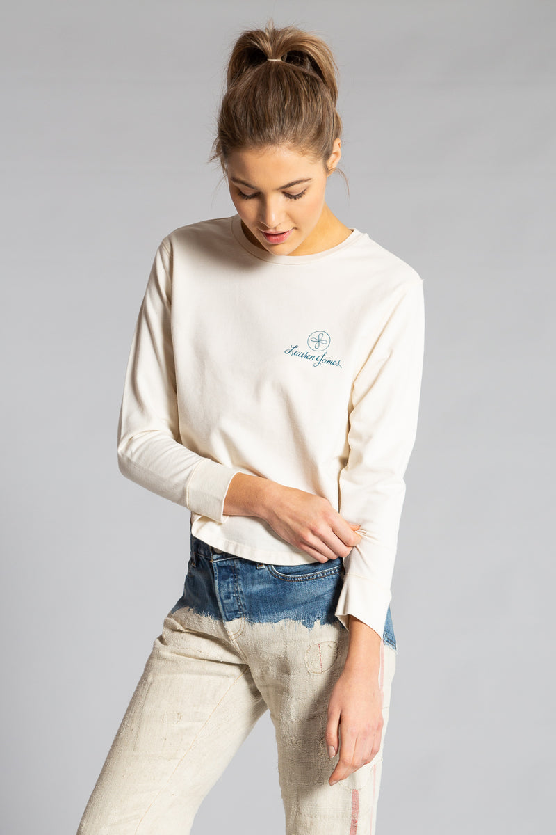 LAUREN'S FARM CROPPED SWEATSHIRT