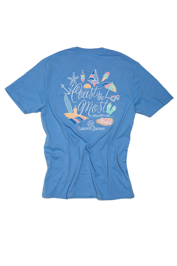 Delta Blue - Coast Is The Most Sweet Tee S/S - Back 1