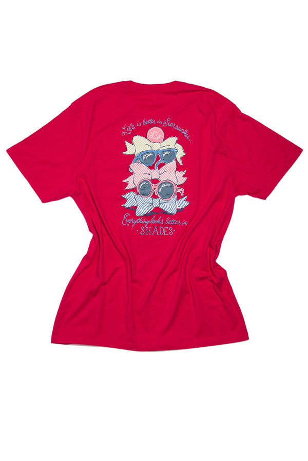 Raspberry-Better In Shades Sweet Tee S/S-Back 2