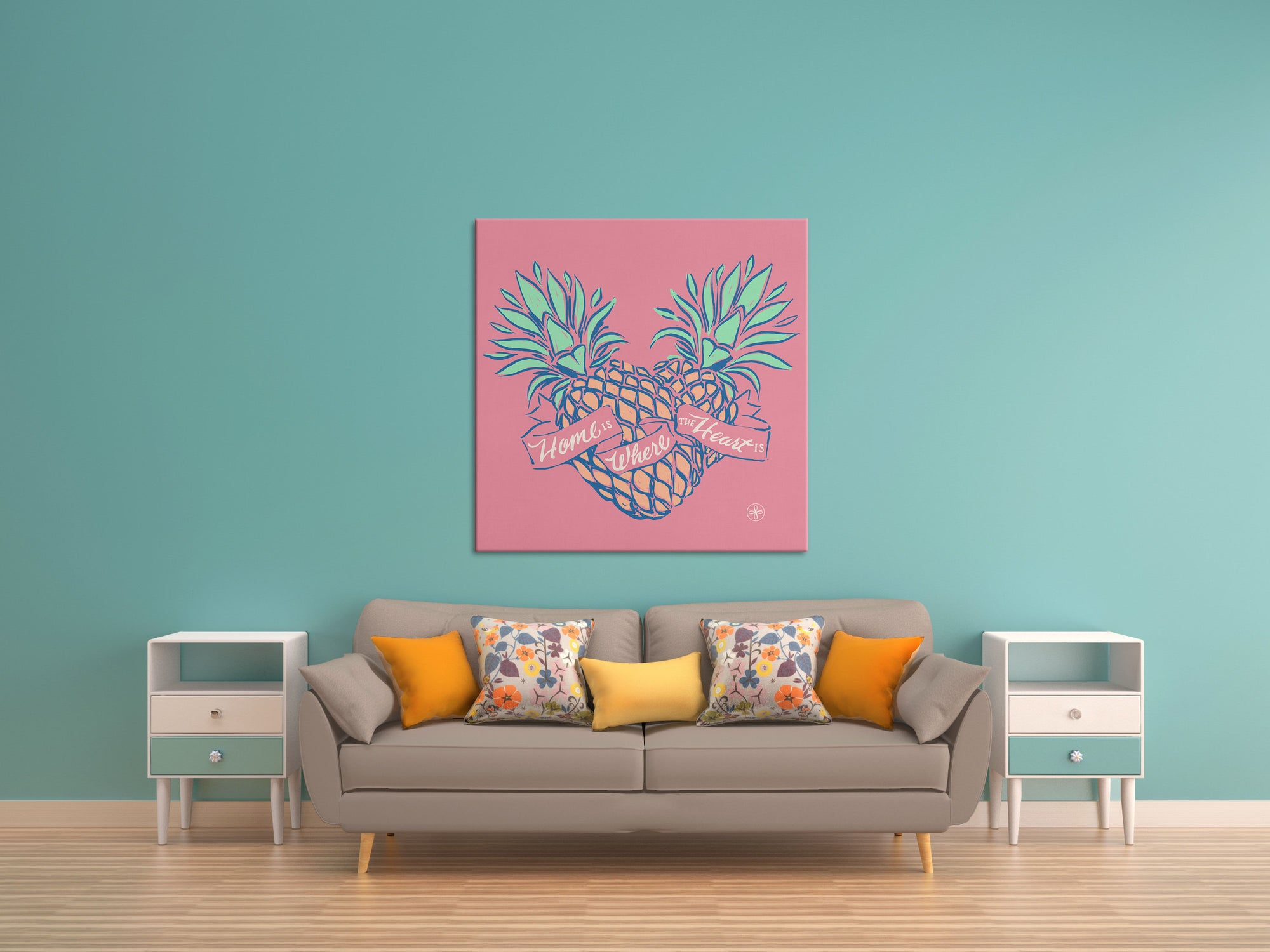 Home is Where the Pineapple Heart Is Canvas