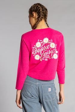 DAISY CROPPED SWEATSHIRT
