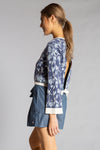 FLOWER POWER SWEATER Navy- front 3