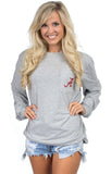 Heather Grey - Alabama Stadium Tee - Long Sleeve Front
