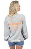 Heather Grey - Clemson Stadium Tee - Long Sleeve Back