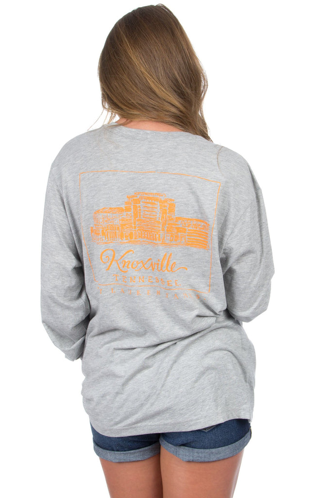 Heather Grey - Tennessee Stadium Tee - Long Sleeve Back