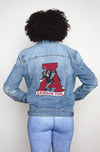 Screen Printed Denim Jacket, Alabama