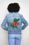 Screen Printed Denim Jacket