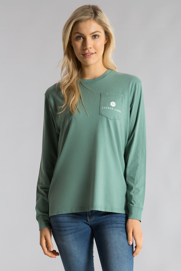 Green-Too Cool For School  Tee L/S-Front 1