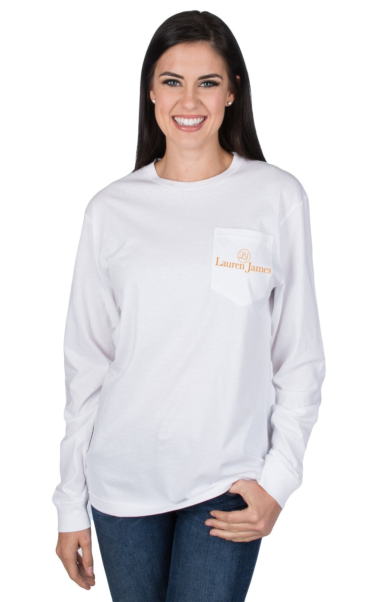 White - University of Tennessee Nothing but Net L/S - Front
