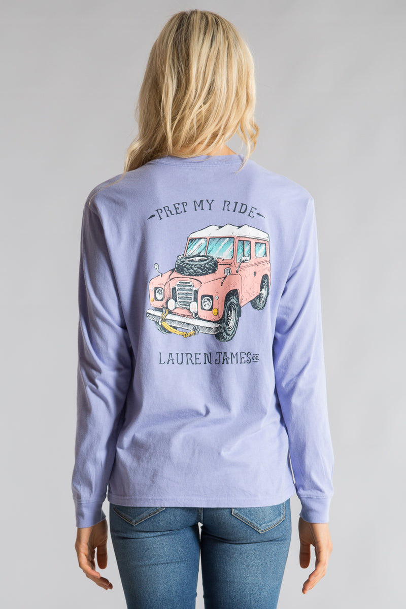 Lilac -Prep My Ride Tee L/S-Front 1