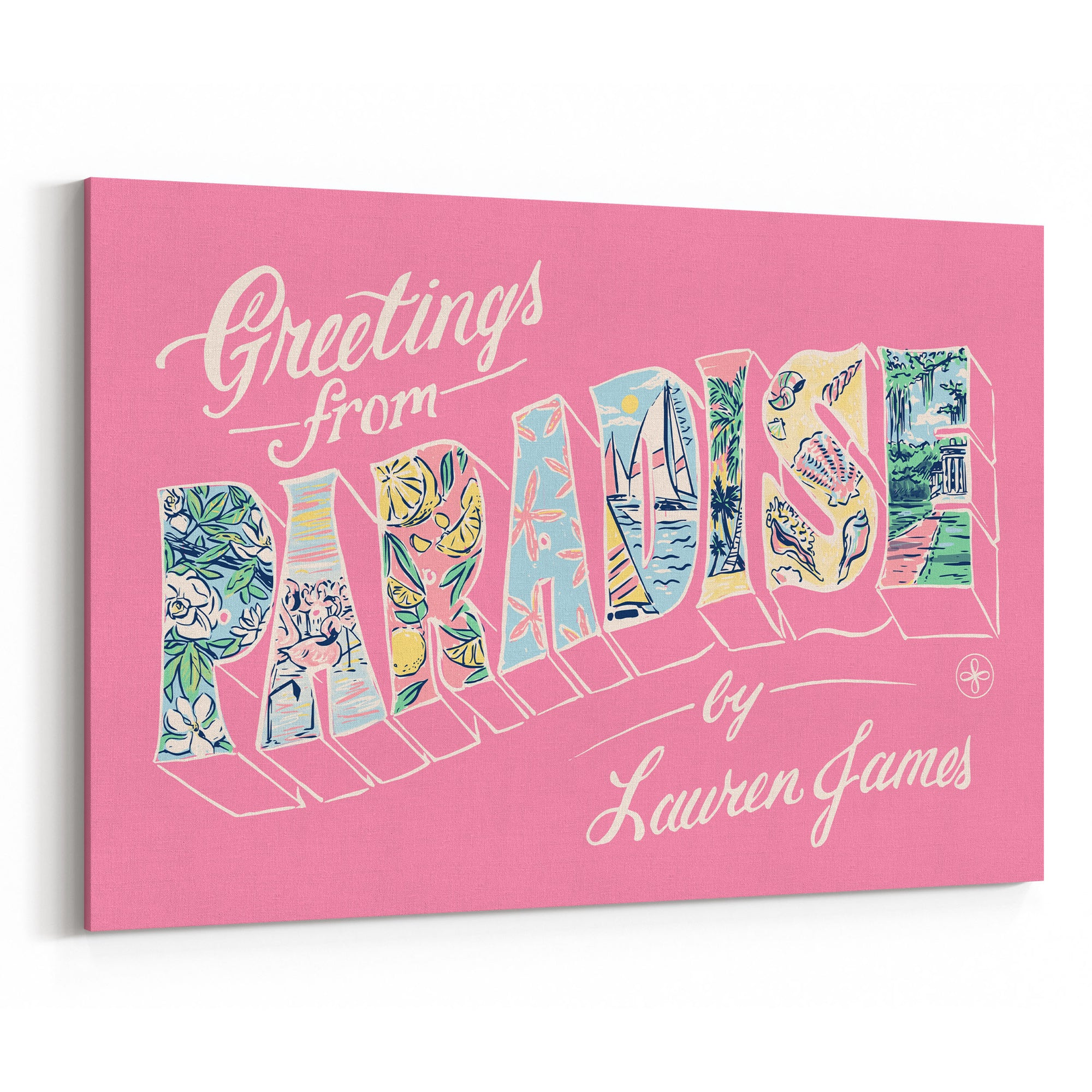 Greeting From Paradise Canvas