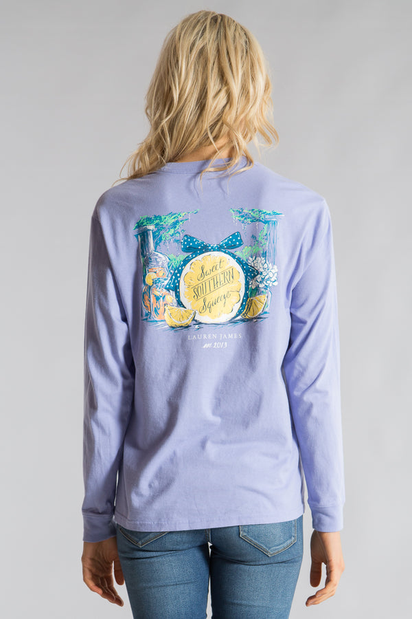 Lilac-Sweet Southern Squeeze Tee  L/S-Back 1