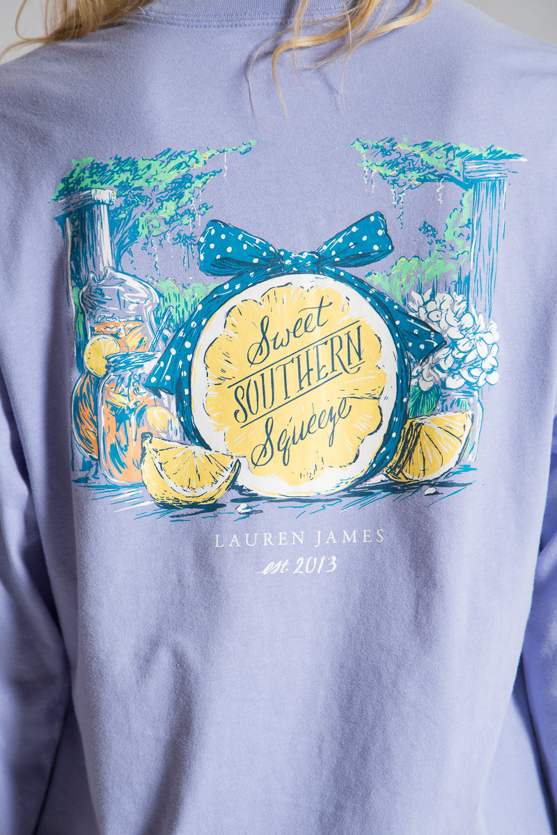 Lilac-Sweet Southern Squeeze Tee  L/S-Front 2