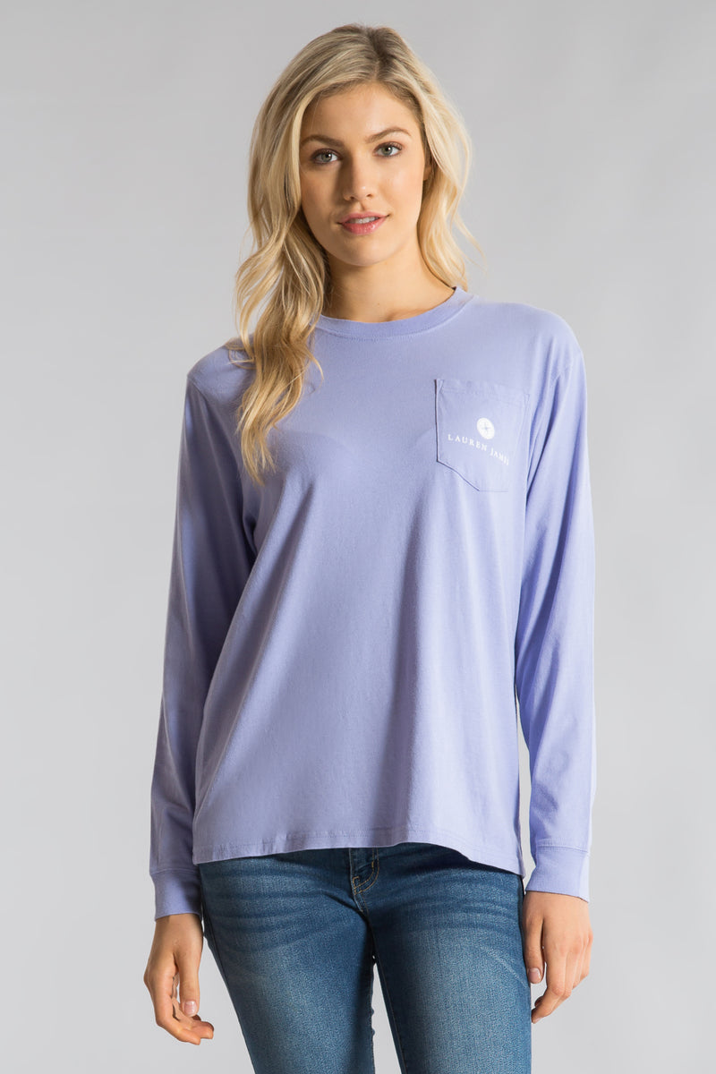 Lilac-Sweet Southern Squeeze Tee  L/S-Front 1