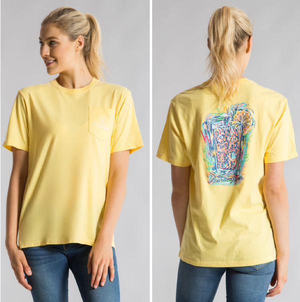 Basic S/S Pocket Tee Sweet Tea Abstract