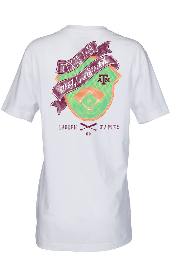 White - Texas A&M University Home Stretch S/S - Front