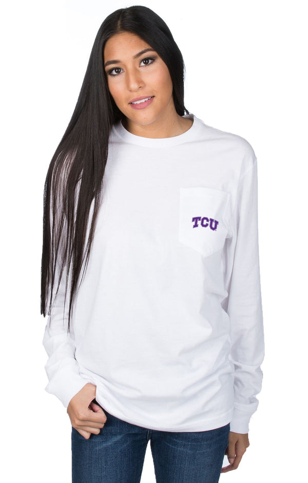 White - Texas Christian University STADIUM TEE - Front