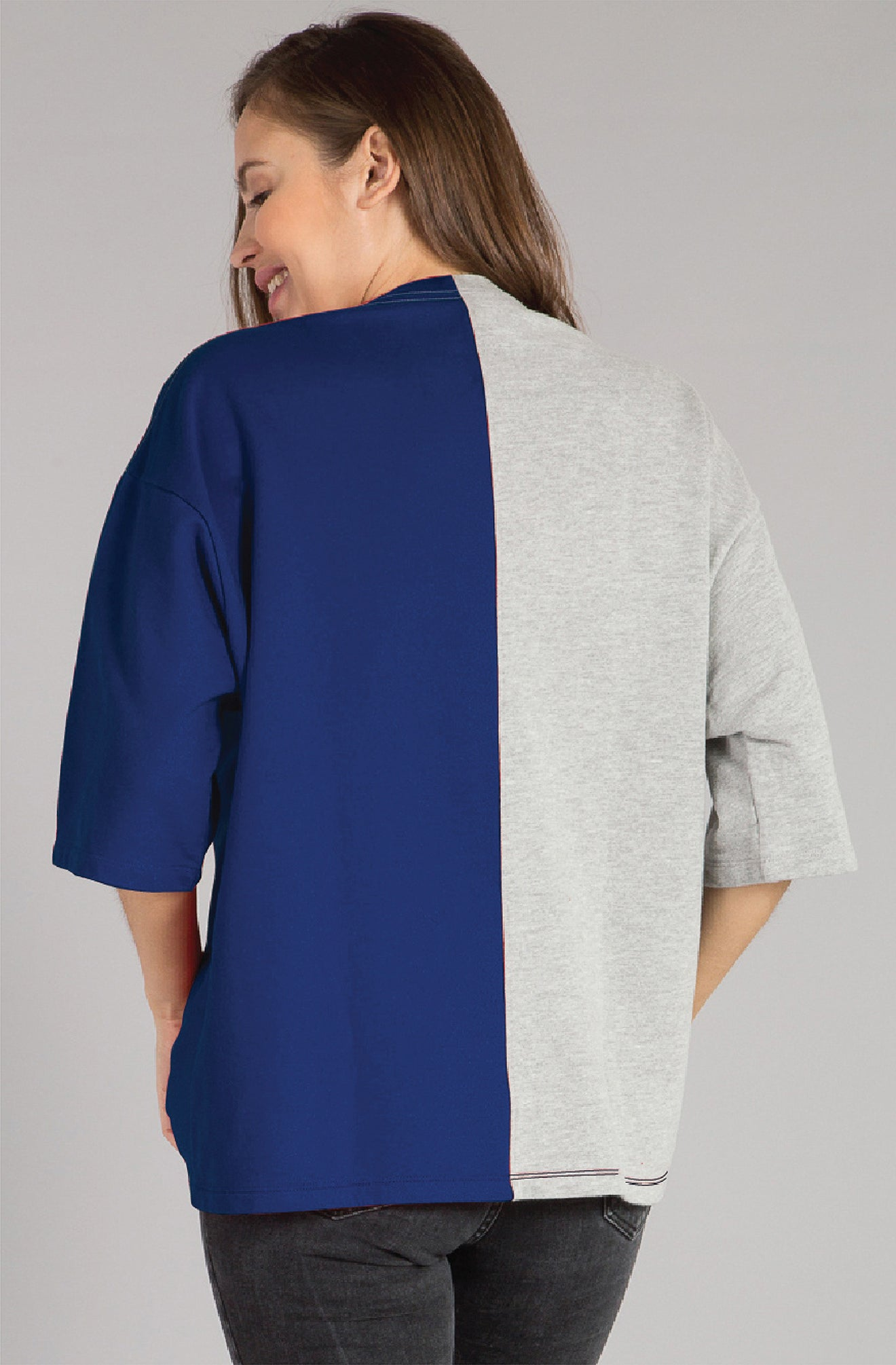 Contrast Panel Fashion Top