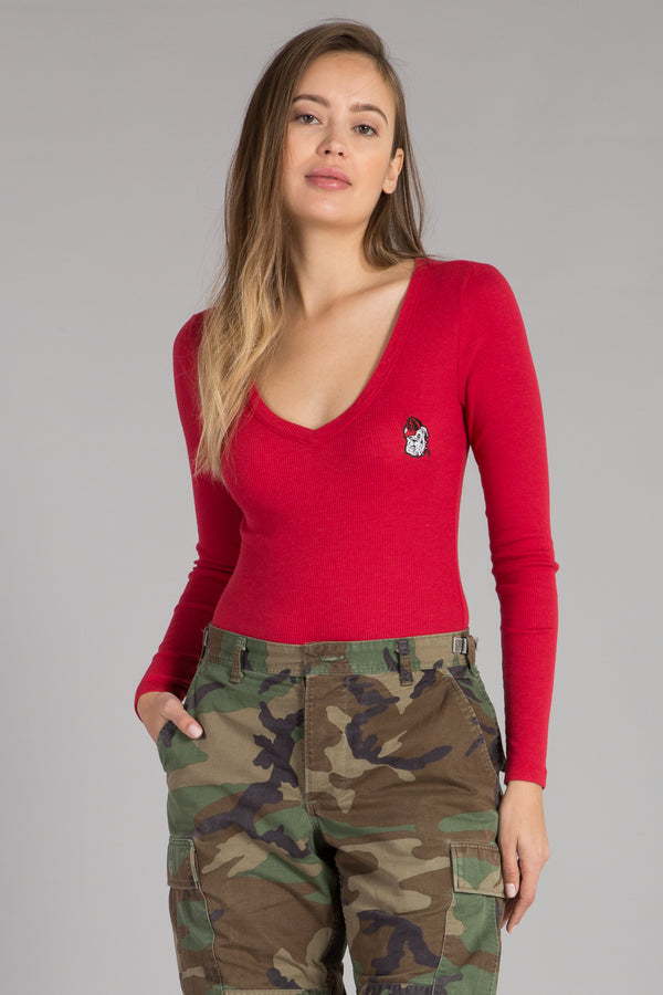 UNIVERSITY OF GEORGIA LONGE SLEEVE BODYSUIT