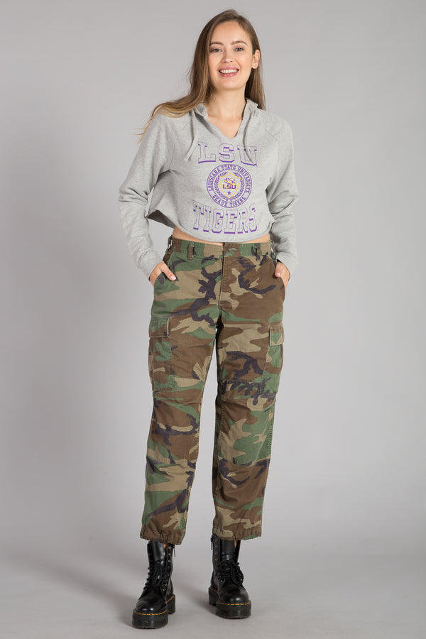 LOUISIANA STATE UNIVERSITY CROP TOP HOODIE