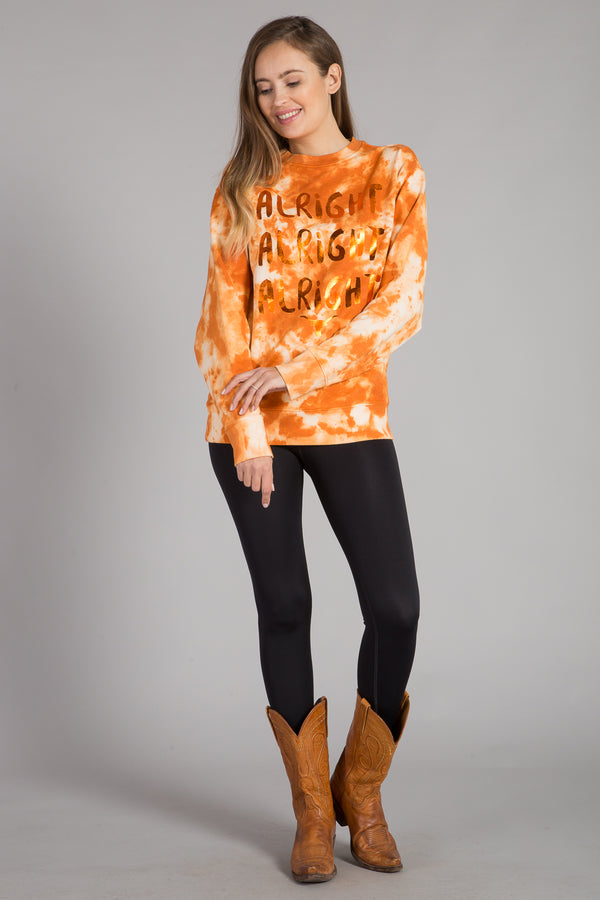 UNIVERSITY OF TEXAS TIE-DYE PULLOVER