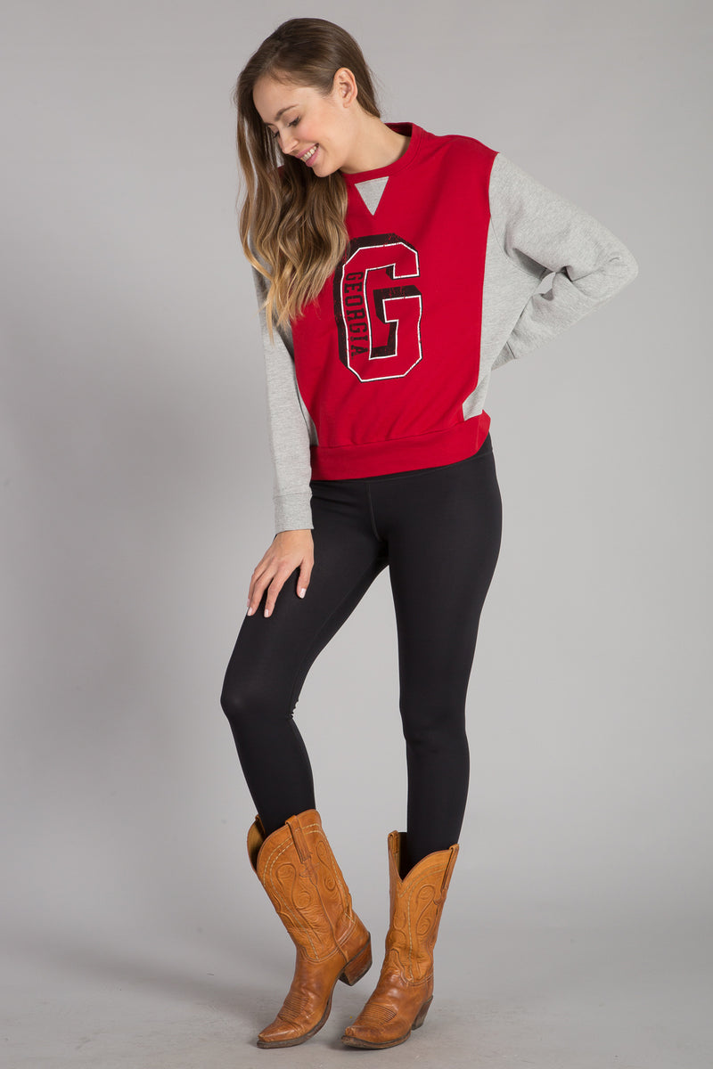 UNIVERSITY OF GEORGIA COLOR BLOCK PULLOVER