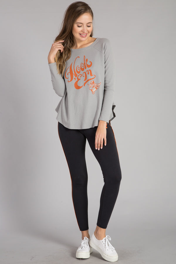 UNIVERSITY OF TEXAS MINI THERMAL LONG SLEEVE SWING TOP