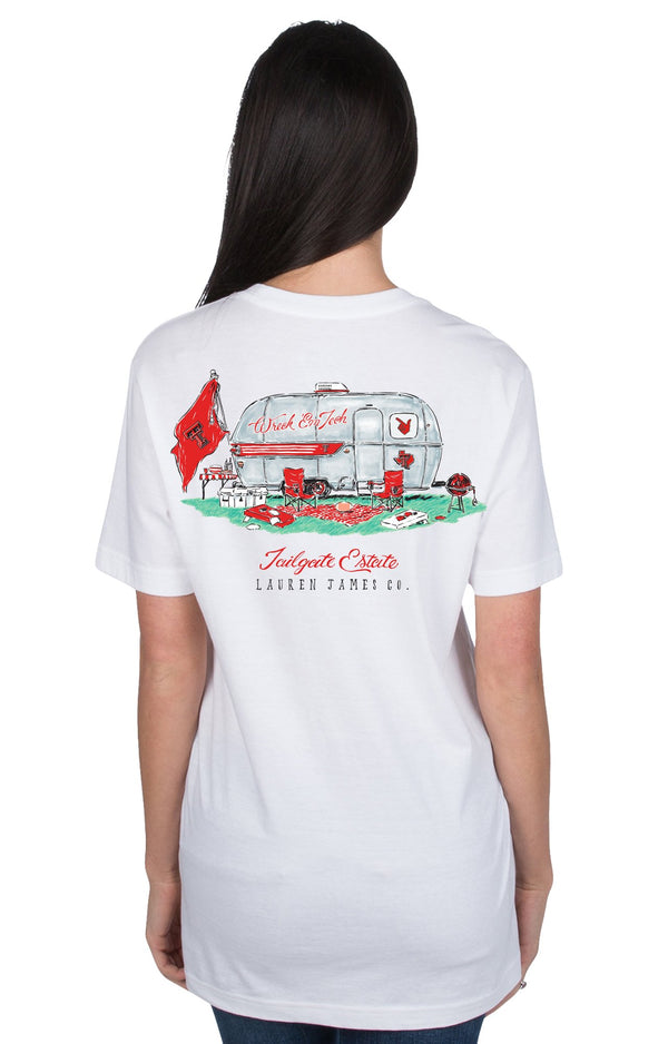 White - Texas Tech University Tailgate Estate S/S - Front