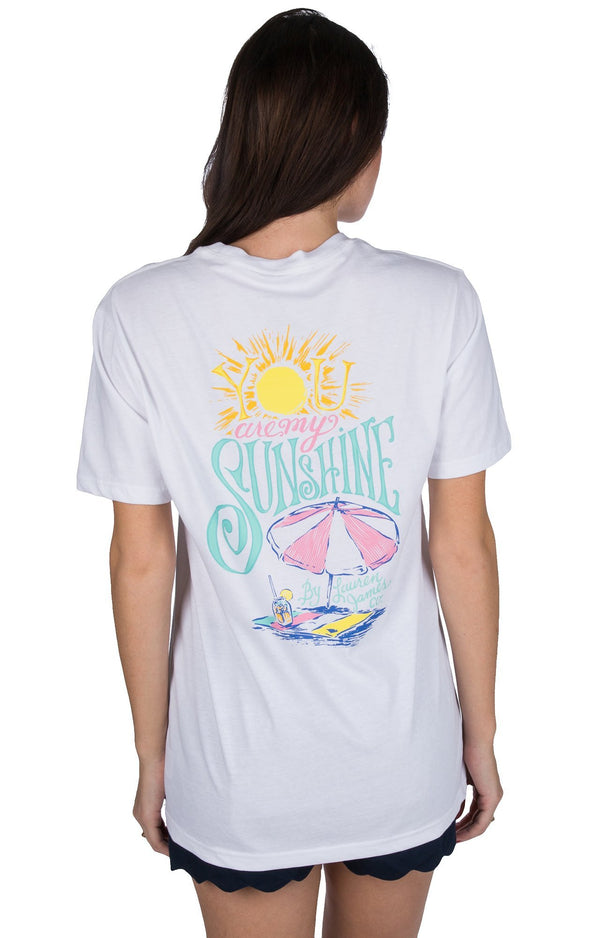 White - You Are My Sunshine S/S - Front